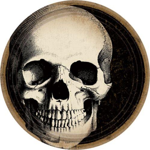 Boneyard Skull Lunch Plates, 60-pk