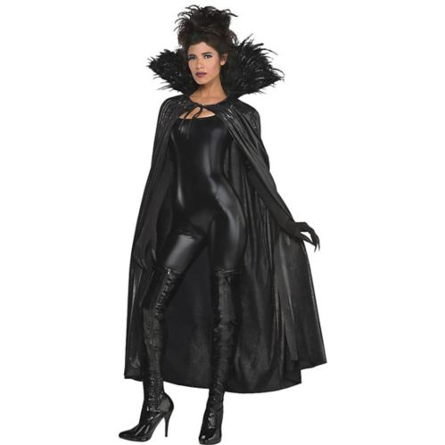 Adult Dark Raven Feather Cape