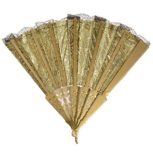 Parisian Black and Gold Lace Fan