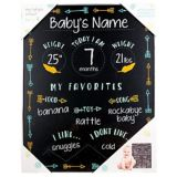 Baby Milestones Chalkboard Sign with Arrows | Amscannull