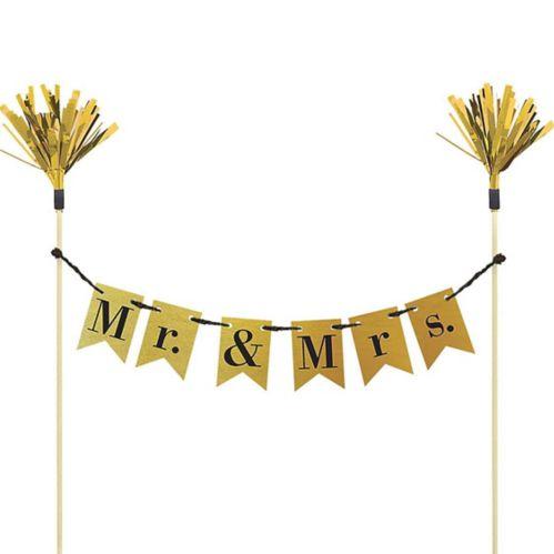 Décoration de gâteau de mariage en banderole de fanionsMr. & Mrs.