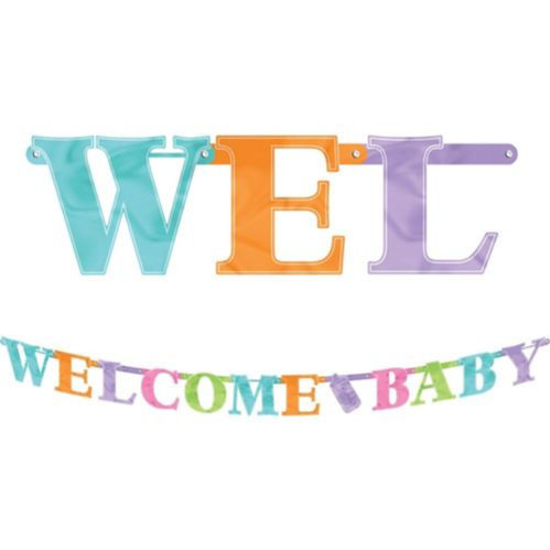 Welcome Baby Baby Shower Letter Banner