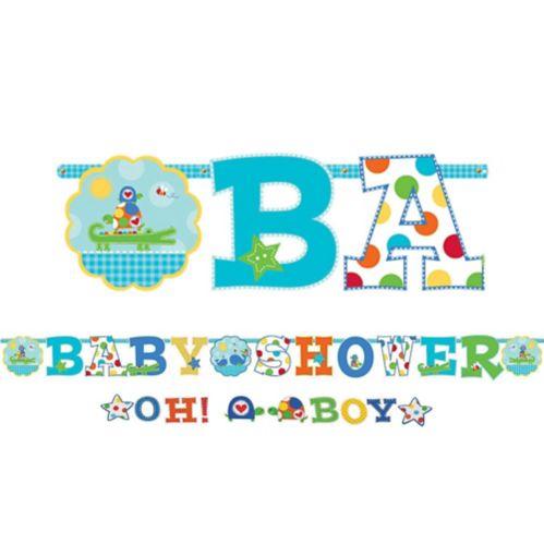 Bannière pour fête prénatale Oh Boy, paq. 2