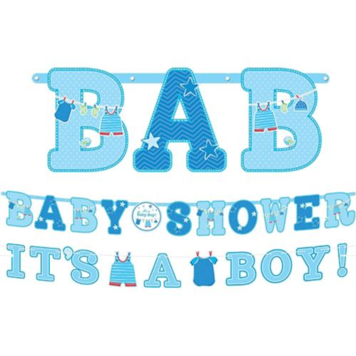 It's a Boy Baby Shower Banners, 2-pcs