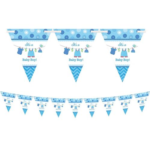 It's a Boy Baby Shower Pennant Banner