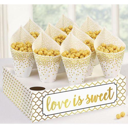 Love Is Sweet Snack Cones Kit, 40-pk