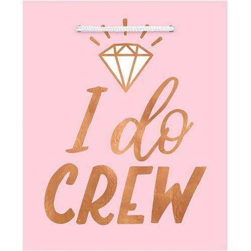I Do Crew Gift Bags, Blush/Rose Gold, 6-pk