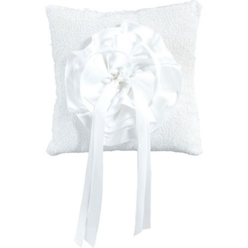 White Sequin Ring Bearer Pillow