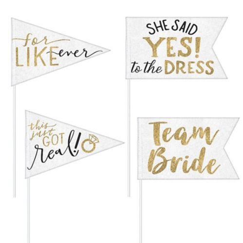 Bride Tribe Pennant Flags, 4-pc