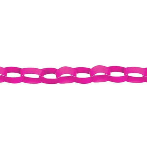 Chain Link Garlands, Bright Pink