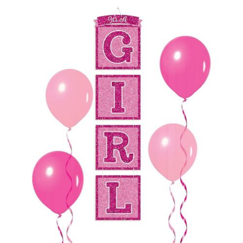 Glitter It's a Girl Stacked Sign