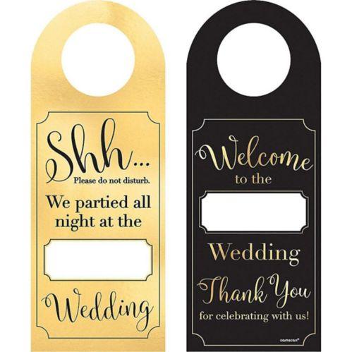 Customizable Wedding Door Hangers, 12-pk