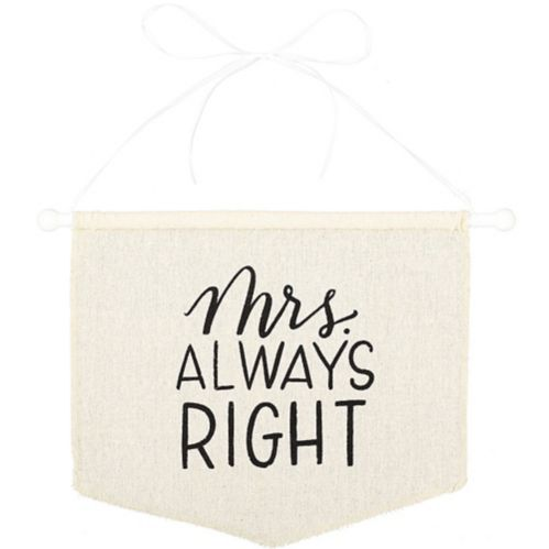Mrs Always Right Canvas Chair Sign