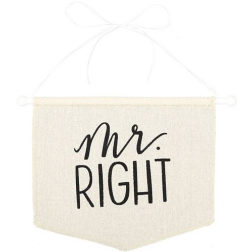 Mr Right Canvas Chair Sign