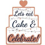 Navy Love Let's Eat Cake Sign