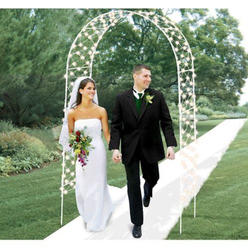 Arche de mariage lumineuse, 96 po