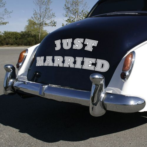 Aimants pour voiture Just Married, paq. 11