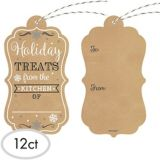 Holiday Treats Kraft Gift Tags, 12-pk