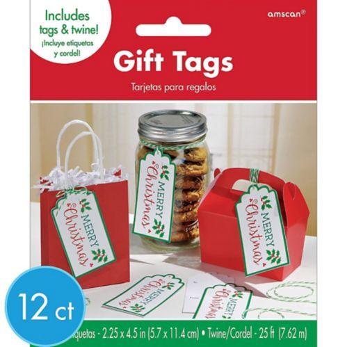 Étiquettes-cadeaux Merry Christmas, paq. 12
