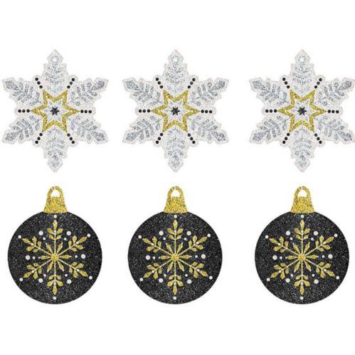 Étiquettes-cadeaux scintillantes de Noël, paq. 12
