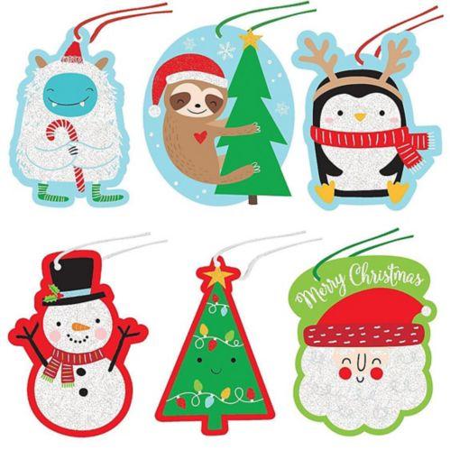 Étiquettes-cadeaux de Noël, amis du père Noël, paq. 36