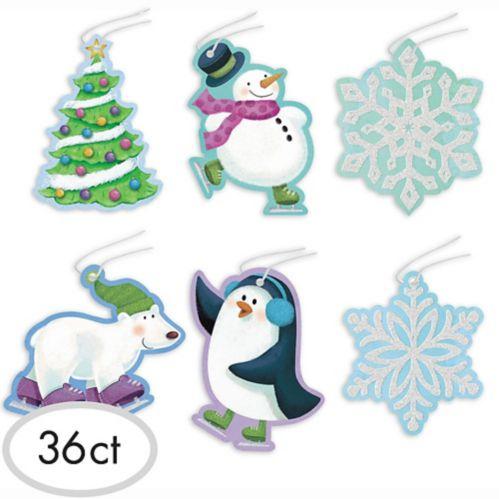 Étiquettes autocollantes de Noël, paq. 36
