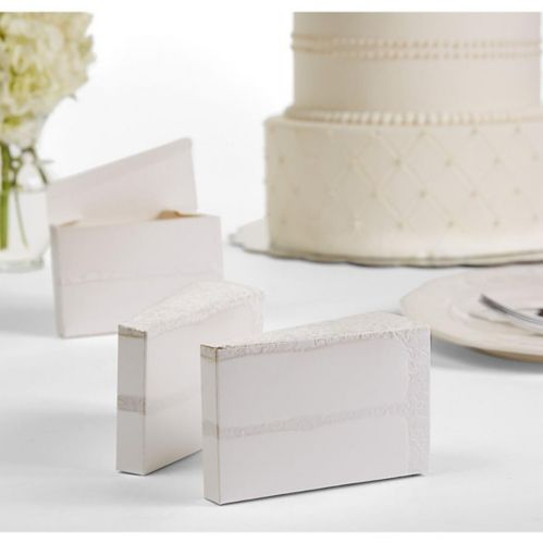 Cake Slice Favour Boxes, 24-pk