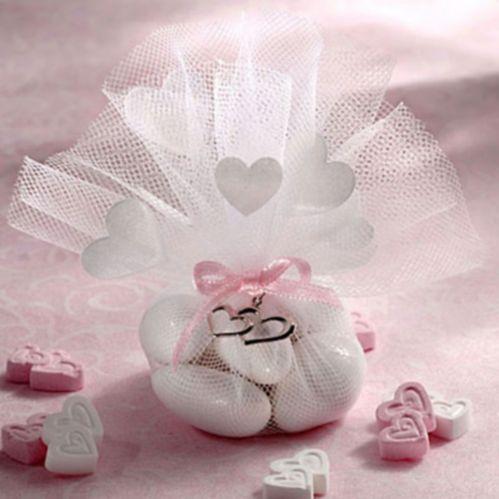 White Heart Tulle, 12-pk