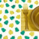 Confettis de table en forme de feuilles de palmier Key West, paq. 48