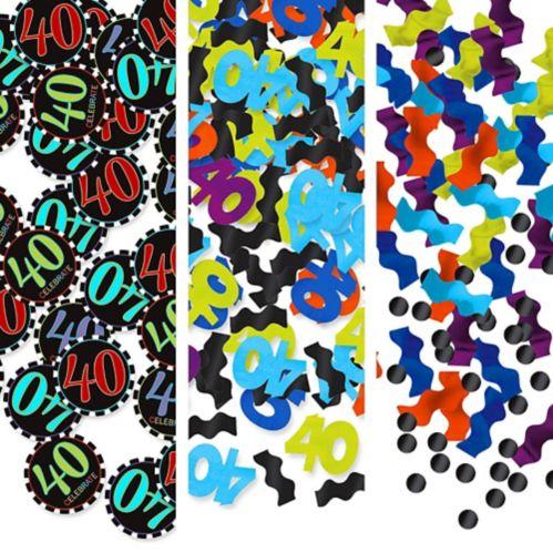 Celebrate 40th Birthday Confetti, 1.2-oz