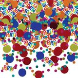 Confetti à pois multicolore, 2,5 oz