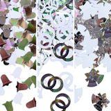 Confettis en forme de cloche, 1,2 oz, argent