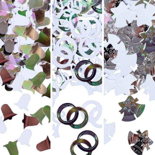 Silver Bell Confetti, 1.2-oz