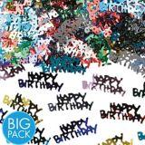Confettis Joyeux anniversaire, métalliques