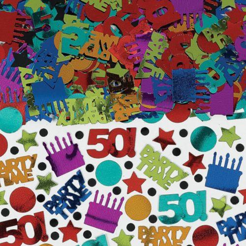 Dot & Stripe 50th Confetti, 2.5-oz