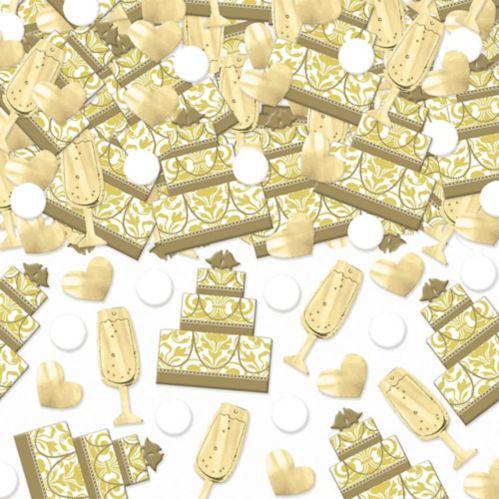Gold Cake Champagne Wedding Confetti