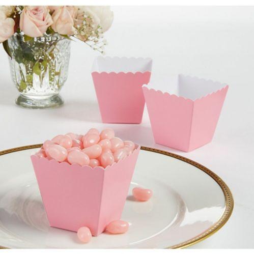 New Pink Scalloped Favour Box, 100-pk