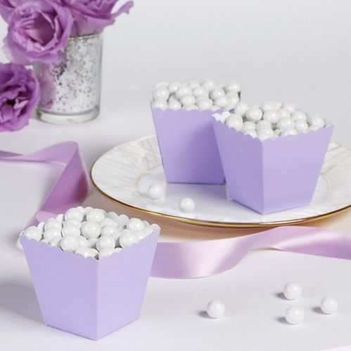 Scalloped Favour Boxes, Lavender, 100-pk