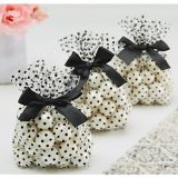 Black Polka Dot Treat Bags with Bows, 12-pk