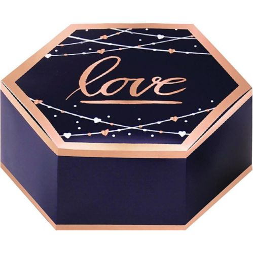 Navy Love Favour Boxes, 8-pk