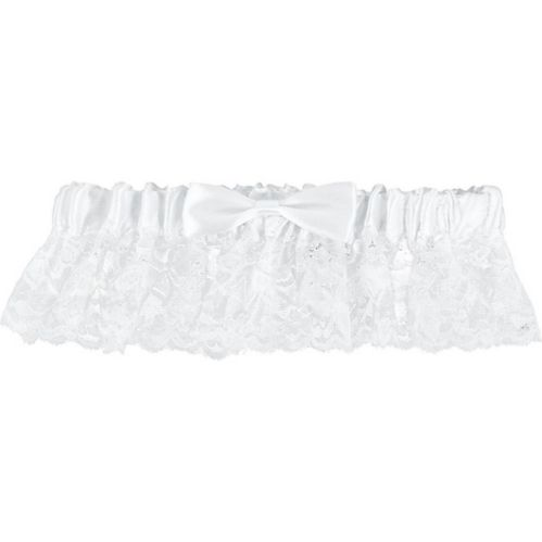 Elegant White Wedding Garter