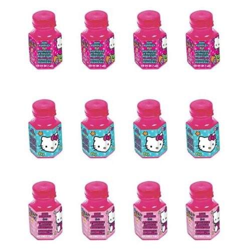 Rainbow Hello Kitty Mini Bubbles, 12-pk