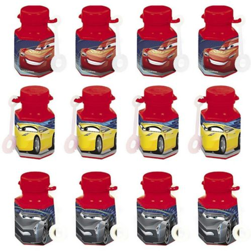 Cars 3 Mini Bubbles, 12-pk