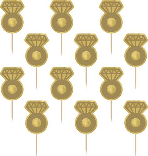 Gold Ring Picks, 24-ct