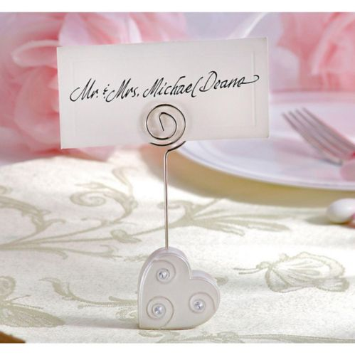 Rhinestone Heart Place Card Holder