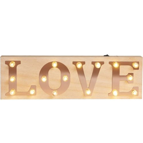 Light-Up Love Marquee Sign