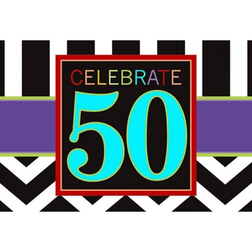 Celebrate 50th Birthday Invitations, 8-pk