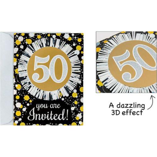 Sparkling Celebration 50th Birthday Invitations, 8-pk