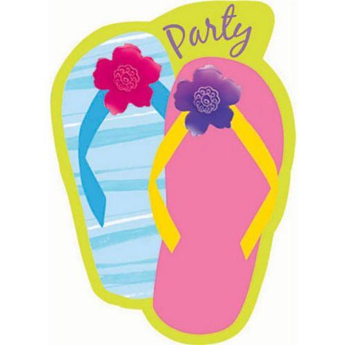 Flip Flop Razzle Dazzle Invitations, 8-pk
