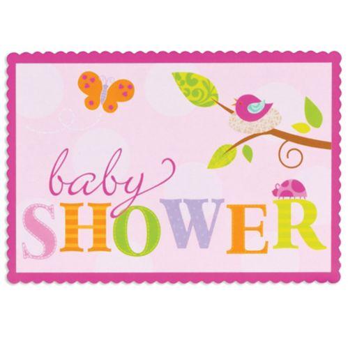 Pink Tweet Sticker Invitations, 8-pk